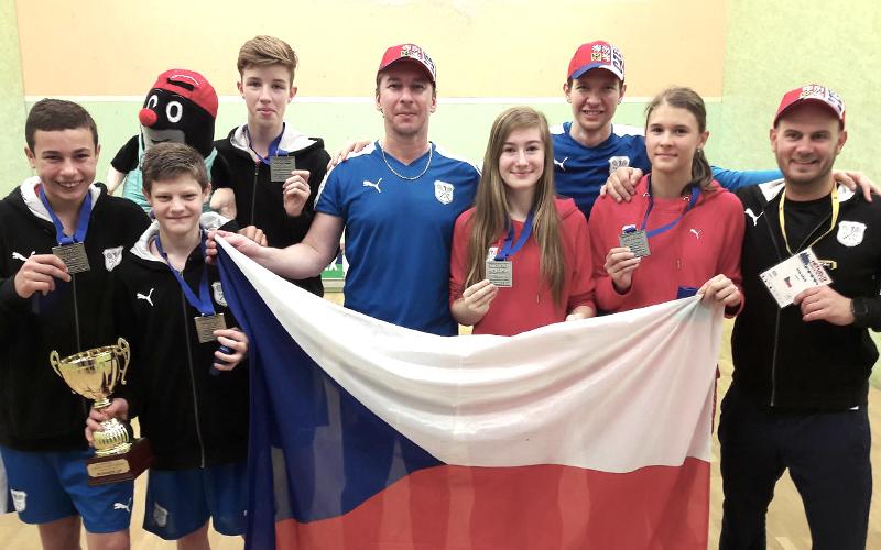 Stříbro ze squashového Mistrovství Evropy U15