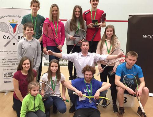 Letošní juniorské mistrovství ČR ve squashi 2018 potvrdilo kvalitu naší práce